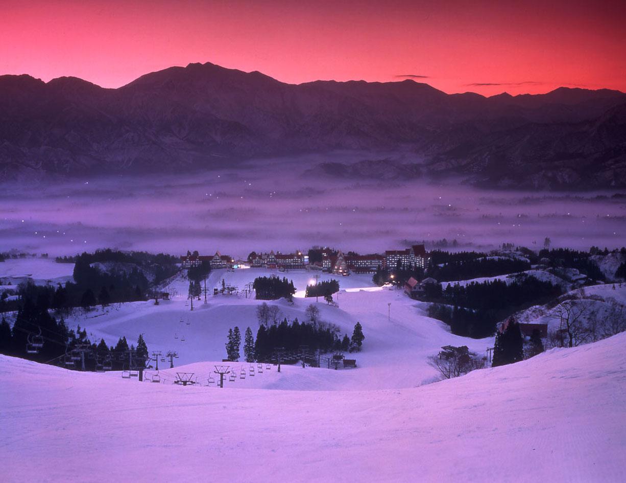 上越国際スキー場(朝焼け)