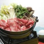夕食鍋一例:すきやき