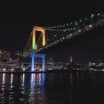 夜景のレインボーブリッジ