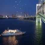 夜のクルーズ船