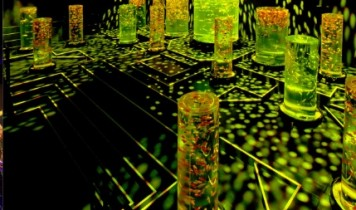 ヒルトンの苺ビュッフェ&水に舞う金魚アートのアクアリウム美術館(HT)